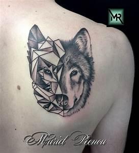 Loup Tatouage Geometrique : tatouage loup graphique et realiste cristattoo83 ~ Melissatoandfro.com Idées de Décoration