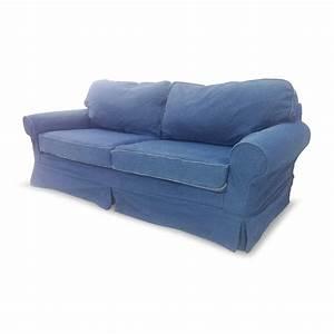 78 OFF Blue Denim Couch Sofas
