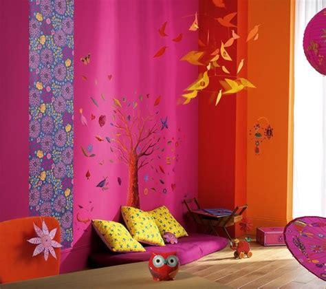 chambre fille bleu et violet déco pour chambre d 39 enfant par djeco