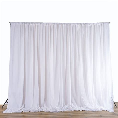 White Curtains Drapes - white sheer silk drapes panels hanging curtains backdrop