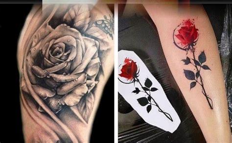Tattoo De Rosas Negras En El Brazo
