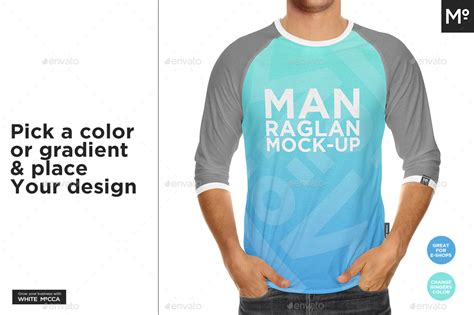 Hoodie mockup of a young woman sitting on some steps to showcase your design in a photorealistic look. Raglan 3/4 Shirt Mock-up by Mocca2Go | GraphicRiver