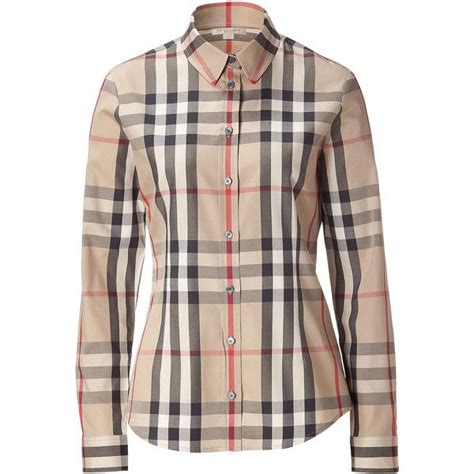 burberry blouse burberry brit check top clothes