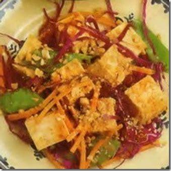 membuat salad tahu ala  asia resep masakan indonesia