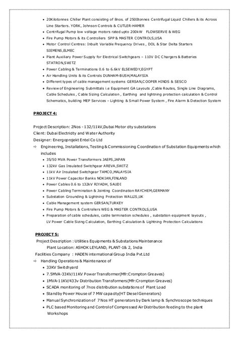 Electrical Testing Commissioning Engineer Resume by Mbn Cv Senior Electrical Engineer