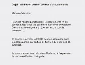 Résilier Une Assurance Vie : modele courrier resiliation assurance deces assurance resilie ~ Medecine-chirurgie-esthetiques.com Avis de Voitures