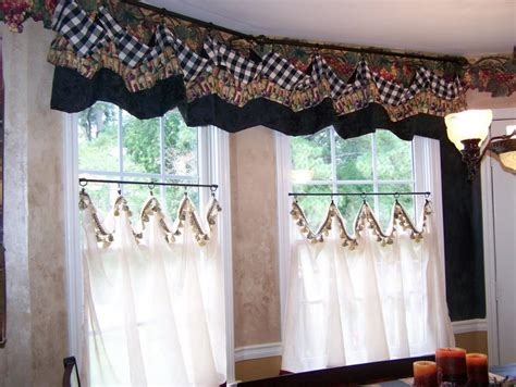 Red And White Plaid Kitchen Curtains
