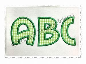 surfer applique machine embroidery font alphabet With applique letters machine embroidery