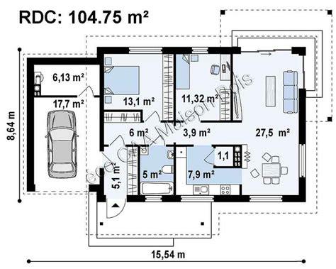 chambre des notaires 76 impressionnant plan maison carree plein pied 1 plan
