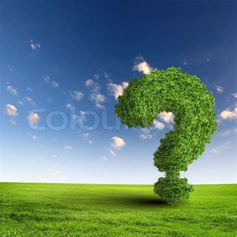 green grass question mark stock photo colourbox