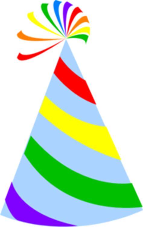 rainbow party hat sky blue clip art  clkercom vector