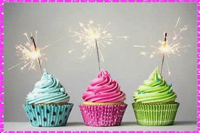 Happy Birthday Cupcakes Candles Gifs Cakes Animated