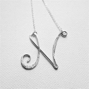 silver letter necklace sterling silver by With large letter necklace