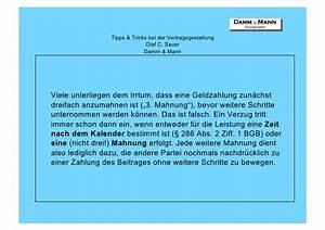 Mahnung Ohne Rechnung Bgb : o sauer tipps tricks bei der vertragsgestaltung ~ Themetempest.com Abrechnung