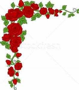 Rose Corner Border vector illustration © lenm (#4310611 ...