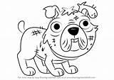 Pound Stuffy Puppies Drawing Draw Step Tutorials Drawingtutorials101 Cartoon sketch template