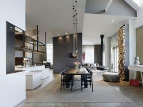 HD wallpapers maison moderne brique grise