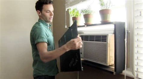 air conditioner shelf how to hide an ac unit with removable diy shelf los