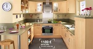 Prix Plan De Travail Cuisine : prix cuisine bois cuisine equipee noir cbel cuisines ~ Premium-room.com Idées de Décoration