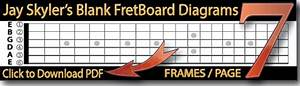 Free Blank Guitar Fretboard Diagrams U S  Letter And Int