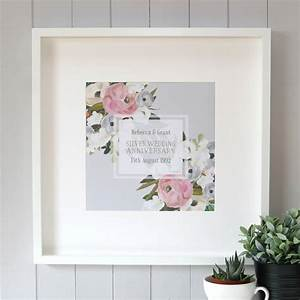 Personalised Silver Wedding Anniversary Print By Hopsack
