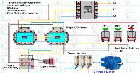 Forward Reverse Motor Control Diagram For Phase