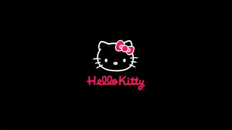 aq  kitty logo art cute dark wallpaper