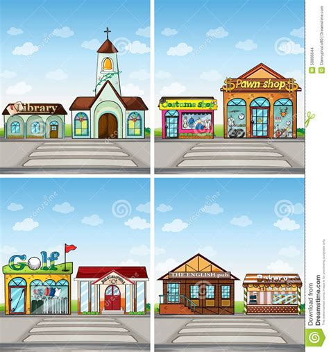 Place Images Shops And Places Stock Vector Image 50806644