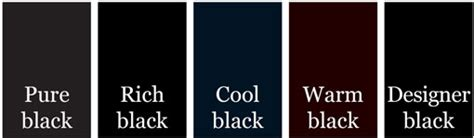 shades of black color 50 shades of black effective use of no color top