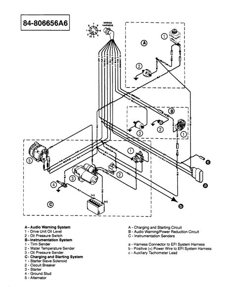 1978 Mercruiser 898 Wiring Diagram by каталог запчастей Mercruiser остальные 5 7l Alpha Efi Tbi