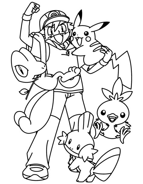 Pokemon Advanced Coloring Pages Color Pokemon Groups