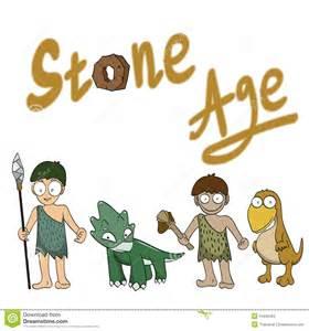 Stone Age People Cartoon