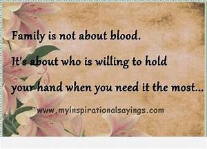 Non Blood Famil... Family Blood Quotes
