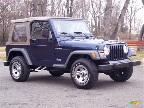 patriot jeep blue 2001 patriot blue pearl jeep wrangler se 4x4 61966643