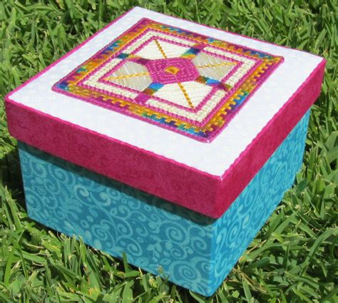 fabric covered boxes beautiful stitches