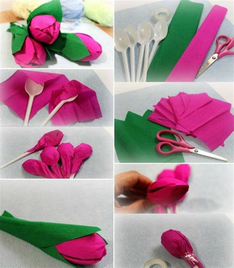 Frühlingsblumen Basteln Aus Papier by Tulpen Basteln Eine Idee Aus Plastikl 246 Ffeln Und