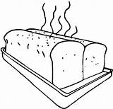 Bread Coloring Sheet Baking Loaf Toast Bakery Fresh Warm sketch template