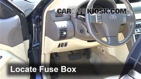 2004 Infiniti G35 Sedan Fuse Box Location by Interior Fuse Box Location 2003 2007 Infiniti G35 2003