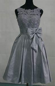 taffeta silver grey bridesmaid dress prom dress with by With silver dresses for a wedding