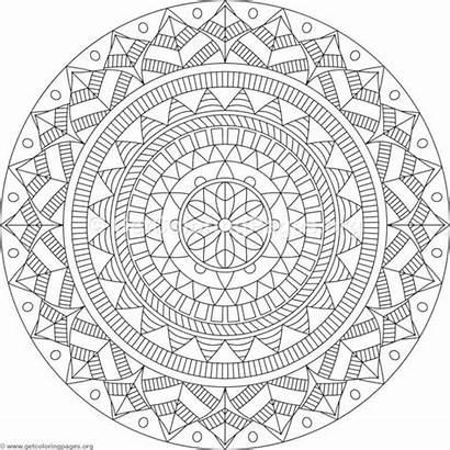 Tribal Coloring Pages Mandala Patterns Mosaic Zentangle