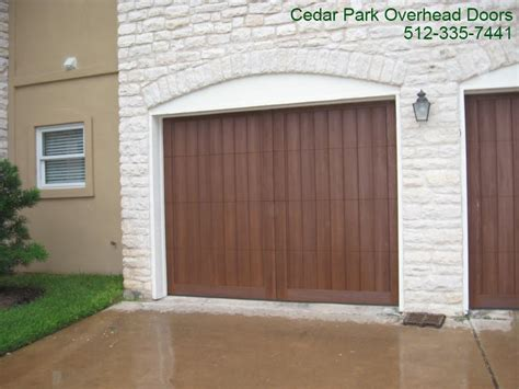 custom wood  garage door  austin tx