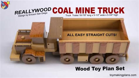 wood toy plan coal  truck youtube