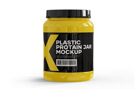 What's cool, you don't have to pay for this. Glossy Protein Jar Mockup | Jar, Mockup, Glossy