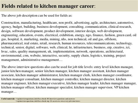 top  kitchen manager interview questions  answers