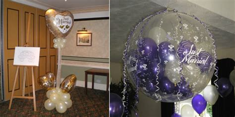 Wedding Balloon Table Decorations by Partystyle Wedding Balloons Wedding Decorations