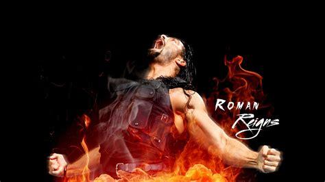 Roman Reigns On Fire Wwe Hd Wallpaper