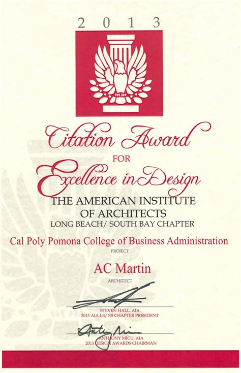 aia long beach awards cal poly pomona ac martin