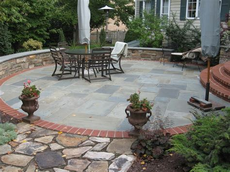 brick and flagstone patio outdoor kitchens stone patios in md va wv poole s stone garden