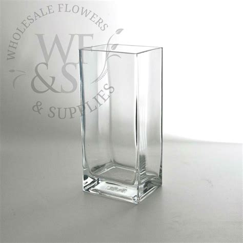 """9"""" Tall X 4"""" X 3"""" Glass Block Vase  Wholesale Flowers And"""