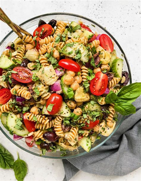 Outstanding pasta salad recipes that completely reinvent the classic. Mediterranean Pasta Salad - Living Well With Nic